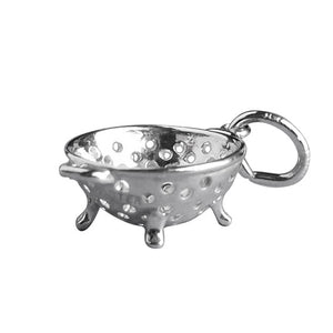 Colander charm sterling silver 925 or gold pendant
