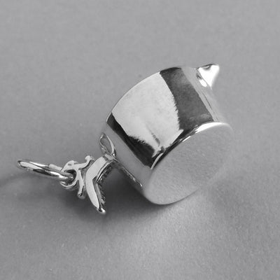 Sterling Silver Measuring Cup Charm Pendant