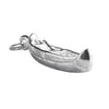 Canoe Charm Sterling Silver Pendant | Silver Star Charms