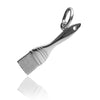 Paint brush charm sterling silver 925 or gold pendant