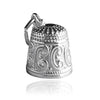 Thimble charm sterling silver 925 or gold pendant