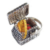 Sewing basket charm with measuring tape and pincushion | Silver Star Charms
