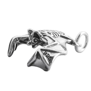 Flying Bat Charm 925 Sterling Silver Pendant | Charmarama