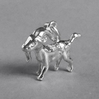 Sterling silver or gold goat pendant