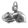 Sterling Silver Guinea Pig Charm Pendant | Silver Star Charms