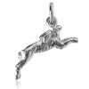 Hare or Rabbit Charm Pendant Sterling Silver or Gold