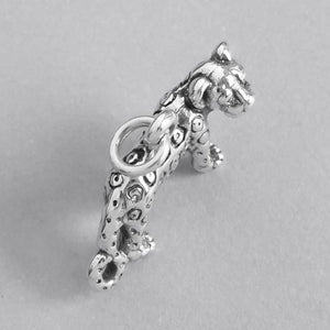 Sterling Silver Leopard Charm Pendant