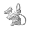 Mouse Charm in Sterling Silver or Gold