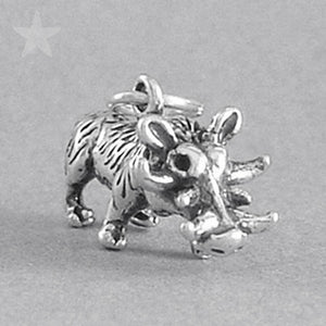 Sterling Silver Wild Pig Charm Pendant
