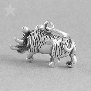 Sterling Silver Wild Boar Pig Charm Pendant