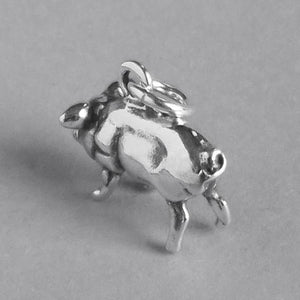 Pig charm 925 sterling silver pendant