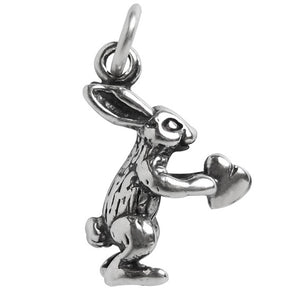 Rabbit with Heart Charm Pendant