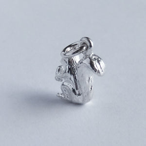 Squirrel Charm Sterling Silver Animal Pendant | Silver Star Charms