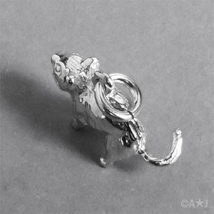 Sterling Silver or Gold Tasmanian Devil Pendant