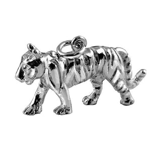 Tiger charm sterling silver 925 or gold pendant