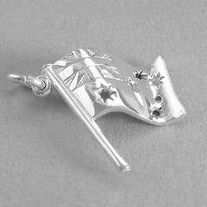 Sterling Silver or Gold Australia Flag Charm Pendant