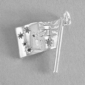 Sterling Silver or Gold Australian National Flag Charm Pendant