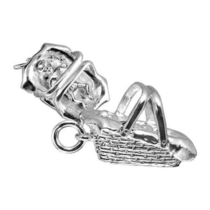 Sterling Silver Baby Carrier Charm Pendant