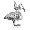 Albatross Bird Charm Pendant Sterling Silver or Gold