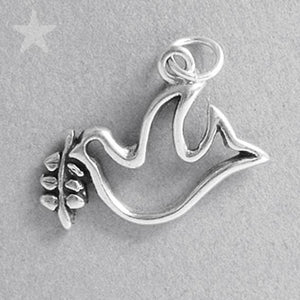 Dove and Olive Branch Charm