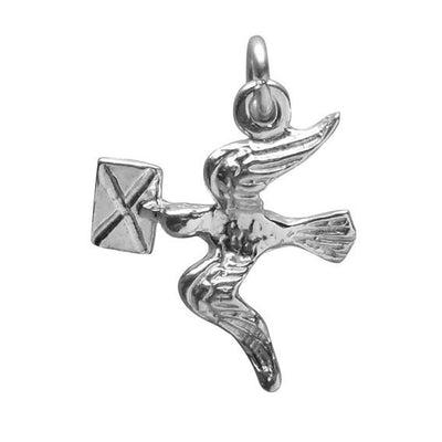 Messenger Bird Charm Sterling Silver Peace Dove Pendant | Charmarama