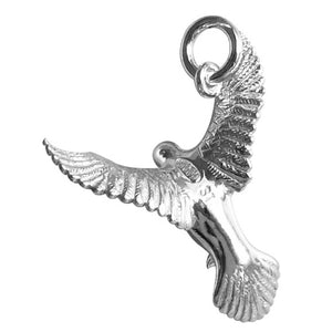 Sterling Silver or Gold Peace Dove Charm Pendant