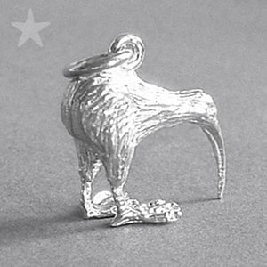 Sterling Silver or Gold New Zealand NZ Kiwi Bird Charm Pendant