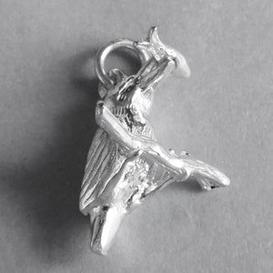 Sterling Silver Kingfisher Bird Charm Pendant