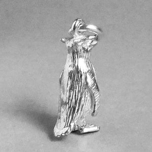 Sterling Silver or Gold Rockhopper Penguin Charm Pendant