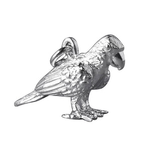 Amazon Parrot Charm Sterling Silver or Gold Bird Pendant | Silver Star Charms