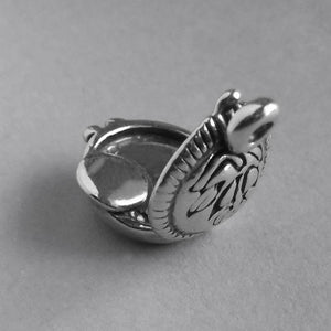 Sterling Silver Cosmetic Compact Charm
