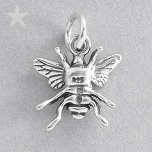 Honey Bee Charm Sterling Silver Insect Pendant | Charmarama