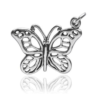 Butterfly charm sterling 925 silver pendant