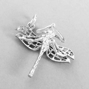 Sterling Silver or Gold Dragonfly Charm Pendant