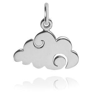 Cloud Charm Sterling Silver Weather Pendant | Charmarama