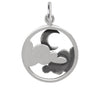 Moon and Clouds Charm Sterling Silver Halloween Sky Pendant | Silver Star Charms