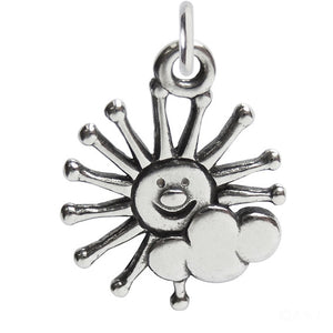 Sterling Silver Sun and Cloud Charm