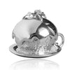 Sterling Silver or Gold Christmas Plum Pudding Charm Pendant
