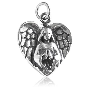 Angel Charm Sterling Silver Pendant