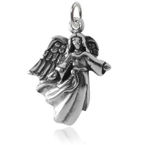 Angel with Open Arms Charm Sterling Silver Pendant