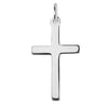 Sterling Silver or Gold Plain Cross Charm Pendant