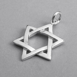 Star of David Charm in Sterling Silver or Gold