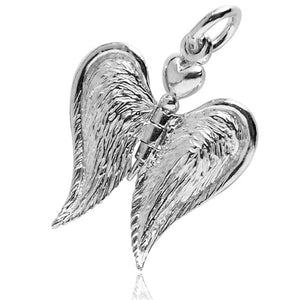 Moving Guardian Angel Wings Charm
