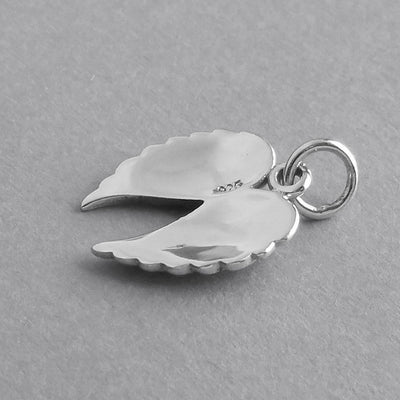 Guardian Angel Wings Charm Sterling Silver Bird Pendant | Charmarama