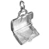 Briefcase Charm Opens to Briefs Sterling Silver or Gold Pendant