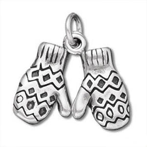 Pair of Mittens Charm Sterling Silver Pendant
