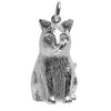 Cat Shaped Ringing Bell Charm Sterling Silver or Gold Pendant
