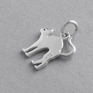 Cat Charm Sterling Silver Halloween Pendant | Silver Star Charms