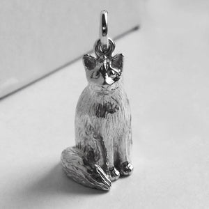 Cat Charm in Sterling Silver or Gold