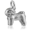 Bichon Frise Charm in Sterling Silver or Gold